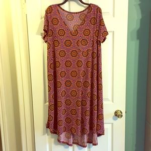 LuLaRoe VNECK Carly Dress New NWT Large High Low